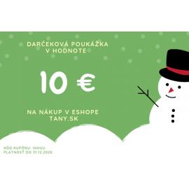 Darčekový kupón 10€