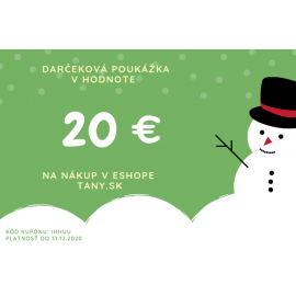 Vianočná darčeková poukážka v hodnote 20€