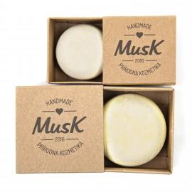 Tuhý šampón na citlivú pokožku JEMNÝ DOTYK 80g- Musk