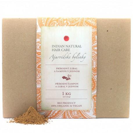 Ajurvédske bylinky 1 Kg (šampón práškový bezfarebný) - Indian Natural Hair Care