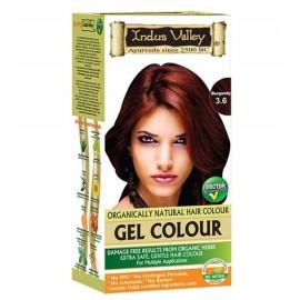 Gélová farba na vlasy s Hennou Burgundská 3.6 - Indus Valley