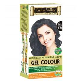 Gélová farba na vlasy s Hennou Tmavohnedá 3.0 - Indus Valley