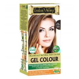 Gélová farba na vlasy s Hennou Tmavá Blond 6.0 - Indus Valley