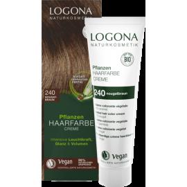 Krémová farba na vlasy s Hennou Nugátovohnedá 150ml - Logona