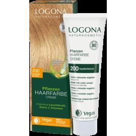 Krémová farba na vlasy s Hennou Medená blond 150ml - Logona