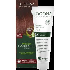 Krémová farba na vlasy s Hennou vínovočervená 150ml - Logona
