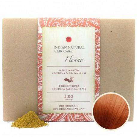 100% Indická Henna 1kg (MEDENÁ kúra) - Indian Natural Hair Care