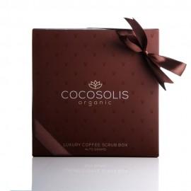 Balenie luxusných kávových peelingov 280 g - COCOSOLIS organic