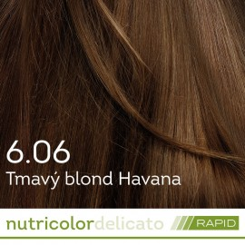 Farba na vlasy Nutricolor Delicato RAPID Tmavý blond Havana 6.06 140ml - Biokap