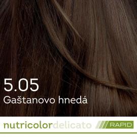Nutricolor Delicato RAPID farba na vlasy - Gaštanová svetlá hnedá 5.05 140ml - Biokap