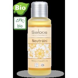 Neutrálny BIO telový a pleťový masážny olej 50ml - Saloos