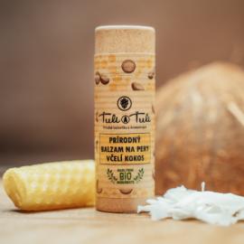 Prírodný balzam na pery Včelí Kokos 20ml - Ťuli a Ťuli