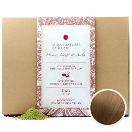 Indická Henna, Indigo & Amla 1Kg (svetlo hnedá farba) - Indian Natural Hair Care