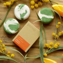 Tuhý šampón (šampúch) Pomaranč & eukalyptus- žihľavový 60g - Ponio