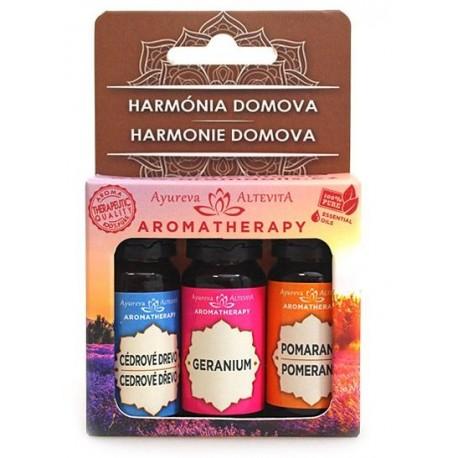 Set esenciálnych olejov Harmónia domova 30ml + aróma lampa zadarmo - Altevita