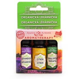 Set esenciálnych olejov Organická lekárnička 30ml + aróma lampa zadarmo - Altevita